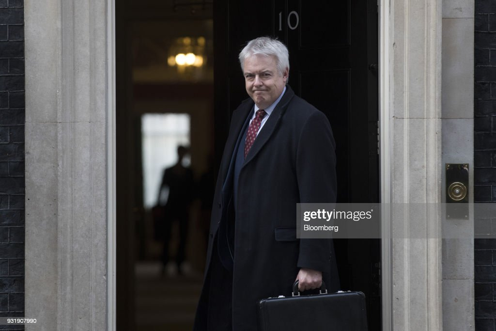 Carwyn Jones, Wales's first minister, arrives at number 10 Downing Street in London, U.K., on Wednesday, March 14, 2018. U.K. prime minister Theresa May will set out how she aims to retaliate against Russia over the nerve agent attack on a former spy and his daughter, deepening tensions between Vladimir Putin and the West. Photographer: Simon Dawson/Bloomberg via Getty Images