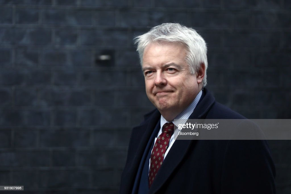 Carwyn Jones, Wales's first minister, arrives at number 10 Downing Street in London, U.K., on Wednesday, March 14, 2018. U.K. prime minister Theresa Maywill set out how she aims to retaliate against Russia over the nerve agent attack on a former spy and his daughter, deepening tensions betweenVladimir Putinand the West. Photographer: Simon Dawson/Bloomberg via Getty Images