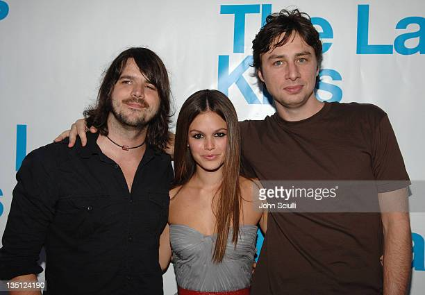 """Cary Brothers, Rachel Bilson and Zach Braff during """"The Last Kiss"""" Listening Party at Privilege in Hollywood, California, United States."""