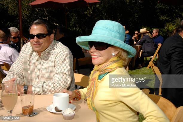 Cary Collins and Marianne Michaelis attend HEARST CASTLE PRESERVATION FOUNDATION LUNCH AT HEARST RANCH at Hearst Ranch on October 3 2009 in San...