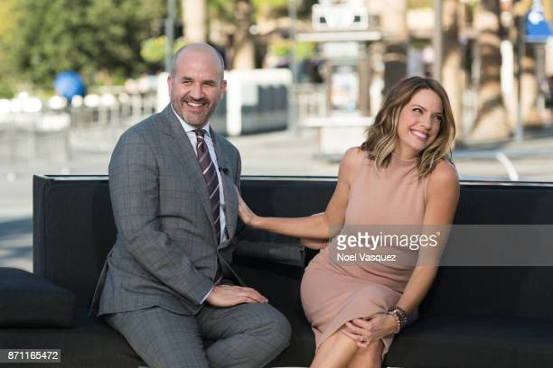 Cary Deuber and Mark Deuber visit Extra at Universal Studios Hollywood on November 6 2017 in Universal City California