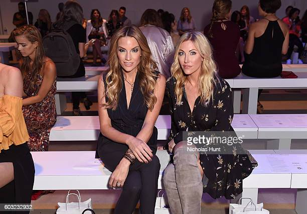 Cary Deuber and Stephanie Hollman attend the Leanne Marshall fashion show during New York Fashion Week September 2016 at The Gallery Skylight at...