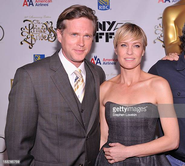 Cary Elwes and Robin Wright attend the 25th anniversary screening cast reunion of 'The Princess Bride' during the 50th New York Film Festival at...