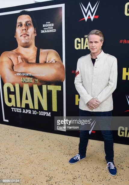 Cary Elwes attends the Premiere Of HBO's 'Andre The Giant' at The Cinerama Dome on March 29 2018 in Los Angeles California