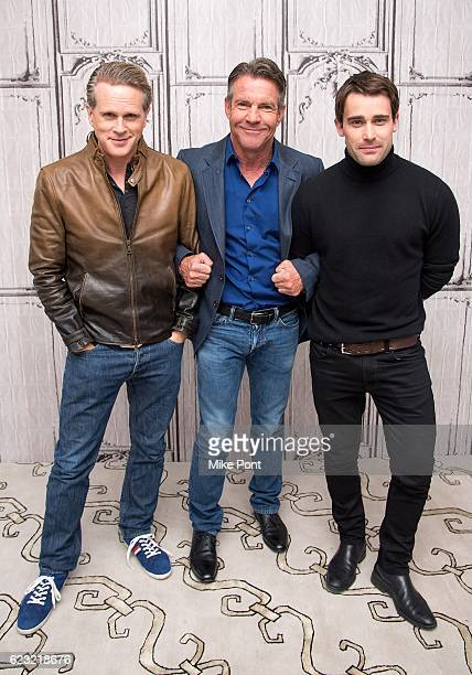 Cary Elwes Dennis Quaid and Christian Cooke attend The Build Series to discuss 'The Art Of More' at AOL HQ on November 14 2016 in New York City