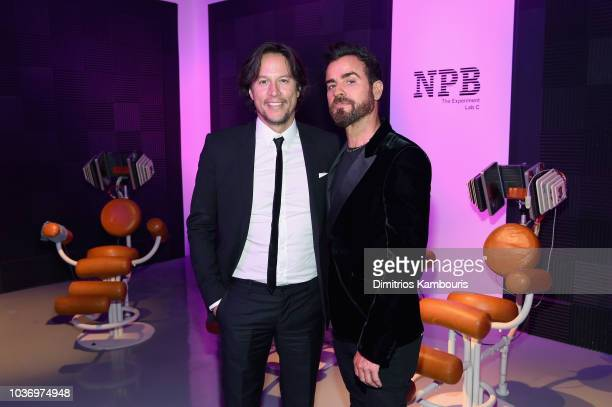 Cary Fukunaga and Justin Theroux attend the Netflix Original Series Maniac New York Premiere Screening and After Party at Center 415 on September 20...