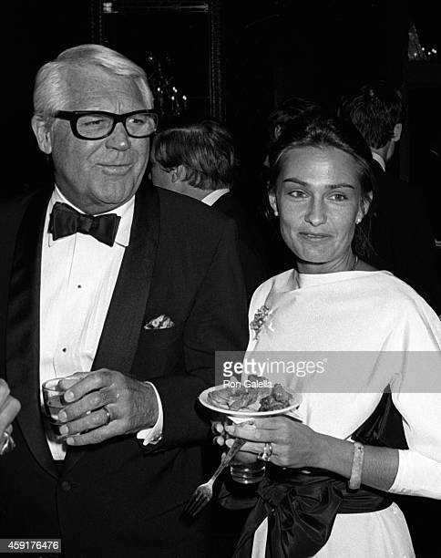 Cary Grant and Barbara Harris attend Black and White Ball on September 25 1981 at the Waldorf Hotel in New York City