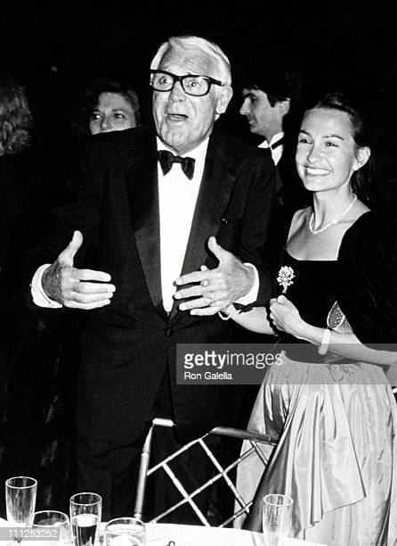 Cary Grant and Barbara Harris during American Ballet Theater Gala Fundraiser Event March 4 1985 at Beverly Wilshire Hotel in Beverly Hills California...