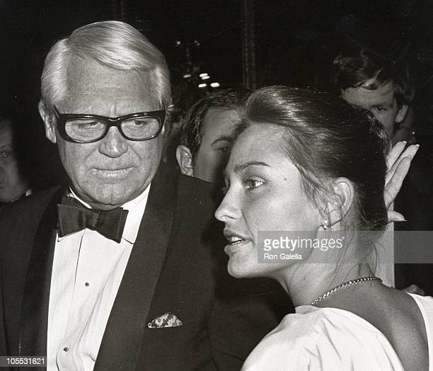 Cary Grant and Barbara Harris during Black and White Ball September 25 1981 at Waldorf Hotel in New York City New York United States