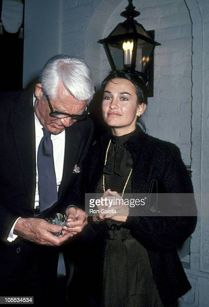 Cary Grant and Barbara Harris during Cary Grant Sighting at Chasen's Restaurant in Beverly Hills - March 18, 1981 at Chasen's Restaurant in Beverly...