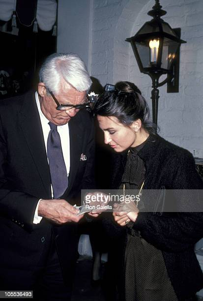Cary Grant and Barbara Harris during Cary Grant Sighting at Chasen's Restaurant in Beverly Hills March 18 1981 at Chasen's Restaurant in Beverly...