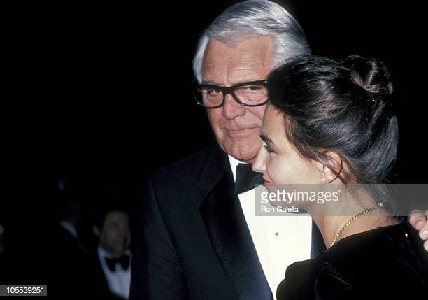 Cary Grant and Barbara Harris during George Burns 85th Birthday Party at Beverly Hilton Hotel in Beverly Hills California United States