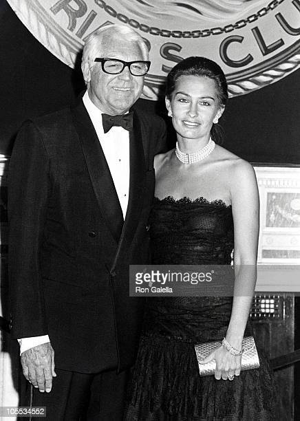 Cary Grant and Barbara Harris during New York Friar's Club Roast Honors Roger Moore March 17 1986 at Waldorf Astoria in New York City New York United...