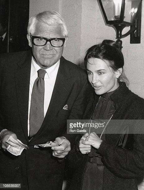 Cary Grant and Barbara Harris during Sighting at Chasens Restaurant at Chasens Restaurant in Beverly Hills California United States
