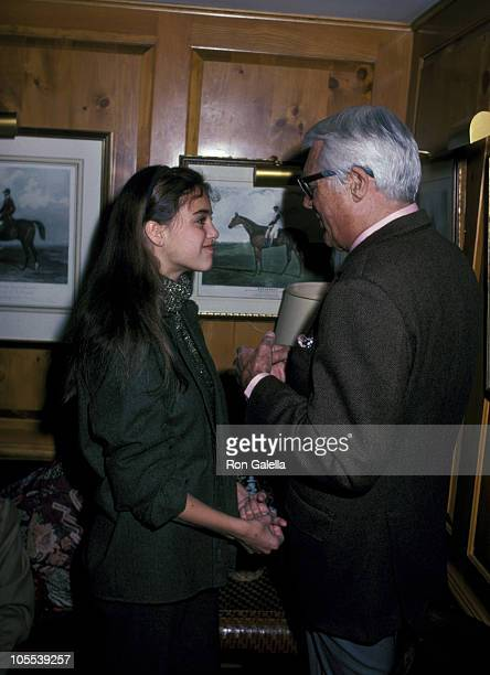 Cary Grant And Daughter Jennifer Grant during Ahmet Ertegun's Sunday Brunch at Fairfax Hotel in Washington DC United States