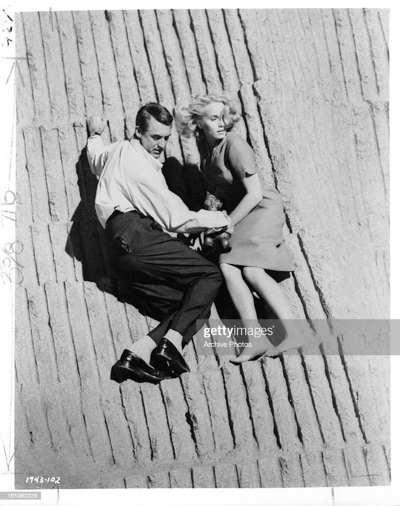 Cary Grant And Eva Marie Saint In 'North By Northwest' : Nachrichtenfoto