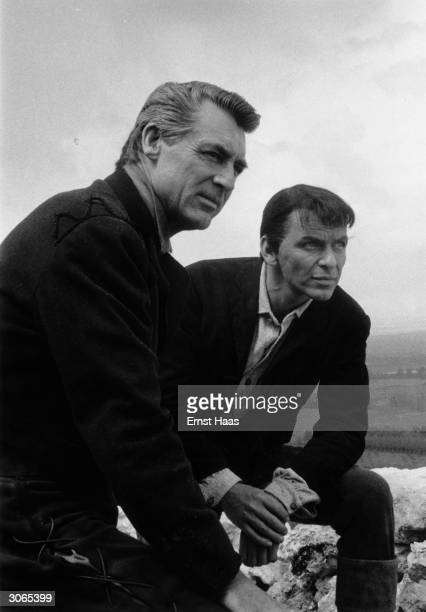 Cary Grant and Frank Sinatra in Spain during the filming of Stanley Kramer's 'The Pride and the Passion' a United Artists production
