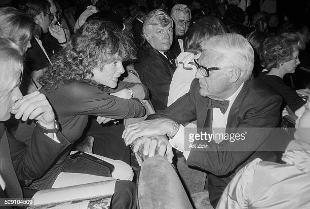 Cary Grant and Jacqueline Bisset Talking to each other before a show circa 1970 New York