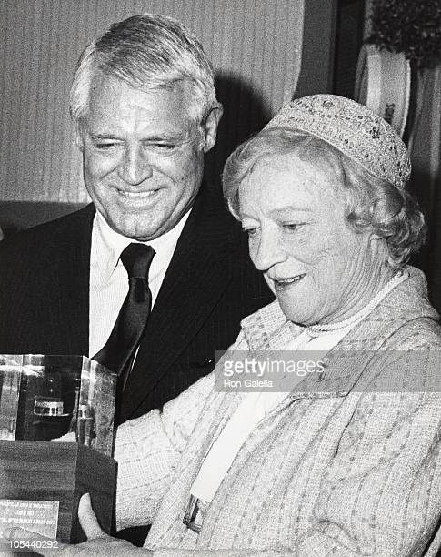Cary Grant and Peggy Wood during 3rd Annual Straw Hat Awards at Tavern on the Green in New York City, New York, United States.