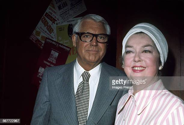Cary Grant and Rosalind Russell circa 1975 in New York City