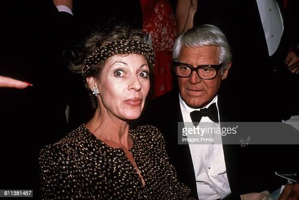 Cary Grant and Veronique Peck circa 1981 in New York City.