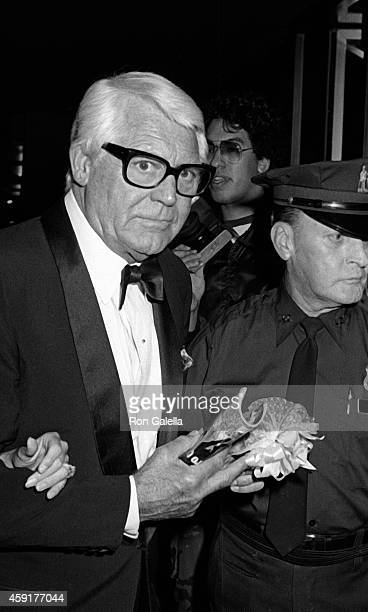 Cary Grant and wife Barbara Harris attend Danny Kaye Conducts the New York Philharmonic on September 23 1981 at Alice Tully Hall at Lincoln Center in...