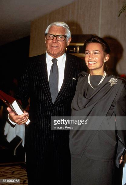 Cary Grant and wife Barbara Harris circa 1984 in New York City