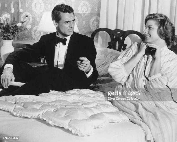 Cary Grant as Philip Adams and Ingrid Bergman as Anna Kalman in 'Indiscreet' directed by Stanley Donen 1958
