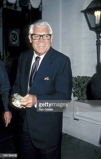 Cary Grant during Cary Grant Sighting at Chasen's Restaurant in Beverly Hills March 18 1981 at Chasen's Restaurant in Beverly Hills California United...