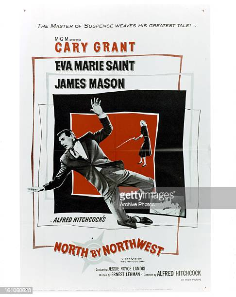 Cary Grant in movie art for the film 'North By Northwest' 1959