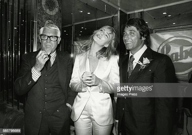 Cary Grant Margaux Hemingway and Joe Namath circa 1977 in New York City