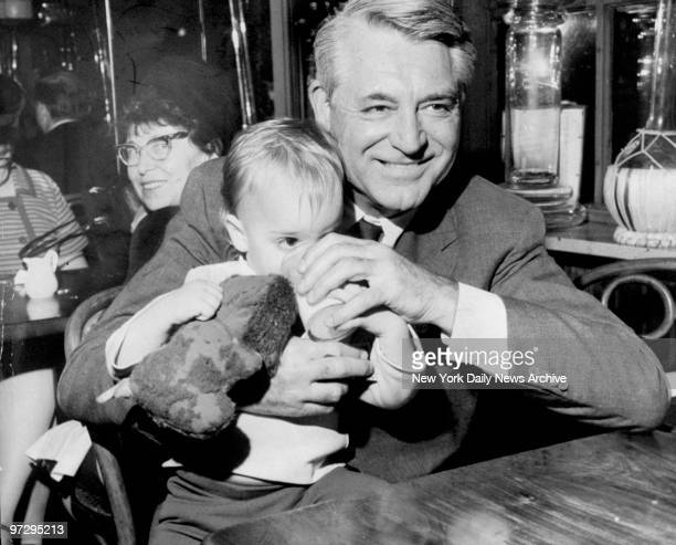 Cary Grant with daughter Jennifer Grant at La Groceria Restaurant