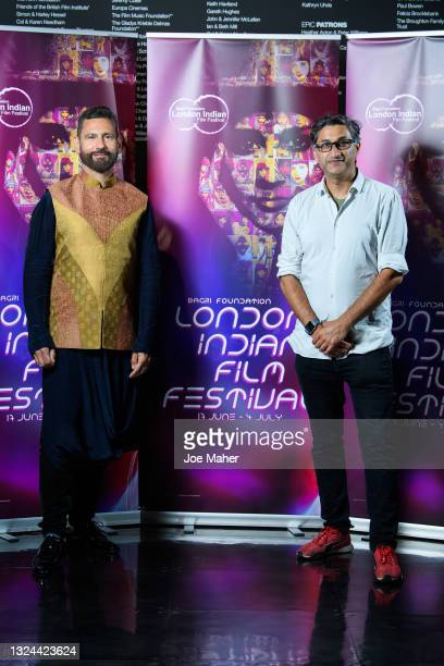"""Cary Rajinder Sawhney and Asif Kapadia attend """"The Warrior"""" screening during London Indian Film Festival 2021 at BFI Southbank on June 19, 2021 in..."""