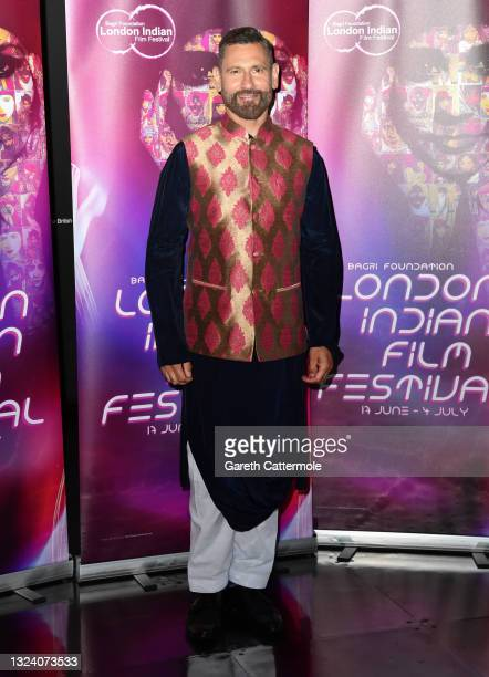 """Cary Sawhney attends """"WOMB """" Screening and Opening Gala during London Indian Film Festival 2021 at BFI Southbank on June 17, 2021 in London, England."""
