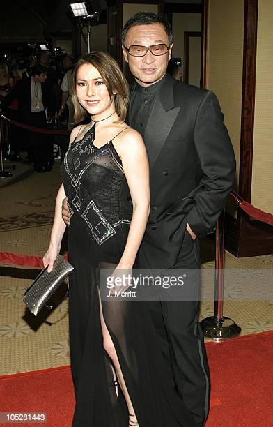 Cary Tagawa and Agata Gotova during The 56th Annual DGA Awards Arrivals at The Century Plaza Hotel in Century City California United States