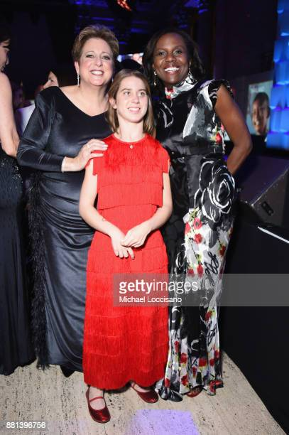 Caryl M Stern Lucy Meyer and Deborah Roberts attend 13th Annual UNICEF Snowflake Ball 2017 at Cipriani Wall Street on November 28 2017 in New York...