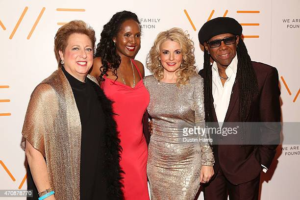 Caryl M Stern Nasra Corbel Nancy Hunt and Nile Rodgers attends The 2015 We Are Family Foundation Celebration Gala at Hammerstein Ballroom on April 23...
