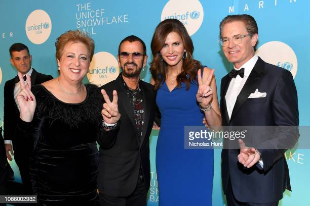 Caryl M Stern Sir Ringo Starr Desiree Gruber and Kyle MacLachlan attend the 14th Annual UNICEF Snowflake Ball 2018 on November 27 2018 in New York...