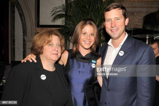 Caryl Stern Jenna Bush Hager and Henry Hager attend UNICEF's Next Generation Launch Event at The Gates on July 23 2009 in New York City