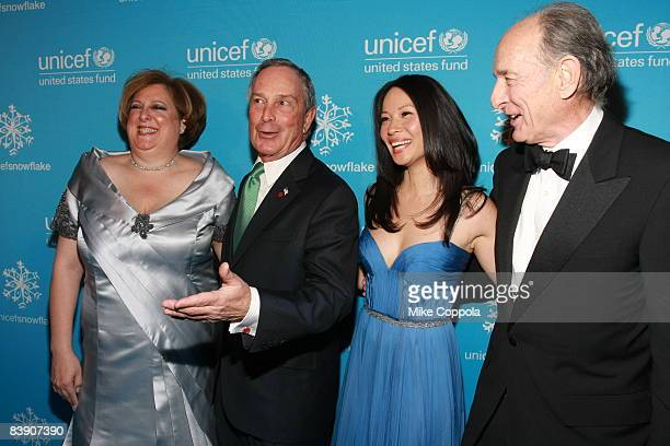 Caryl Stern New York City Mayor Michael Bloomberg Lucy Liu and Anthony Pantaleoni attend the 2008 UNICEF Snowflake Ball at Cipriani 42nd Street on...