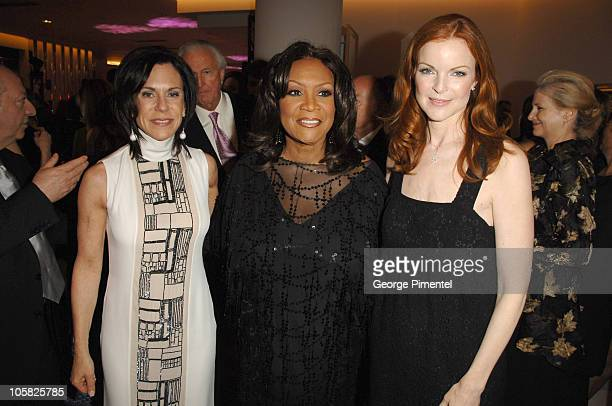Caryn Lerner Patti LaBelle and Marcia Cross during Holt Renfrew Launch Party in Vancouver at Pacific Centre Holt Renfrew Store in Vancouver British...