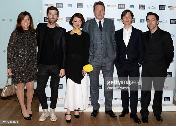 Caryn Mandabach Paul Anderson Helen McCrory Steven Knight and Cillian Murphy attend the Premiere of BBC Two's drama 'Peaky Blinders' episode one...