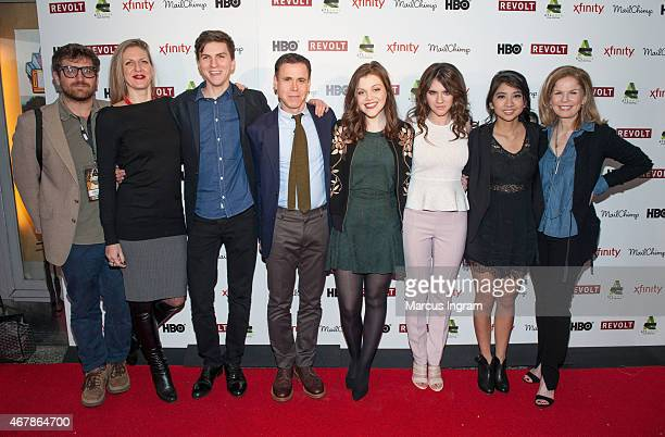 Caryn Waechter Evan Kuzma David Urrutia Georgie Henley Kara Hayward Willa Cuthrell and Elizabeth Cuthrell attend 2015 Atlanta Film Festival 'The...