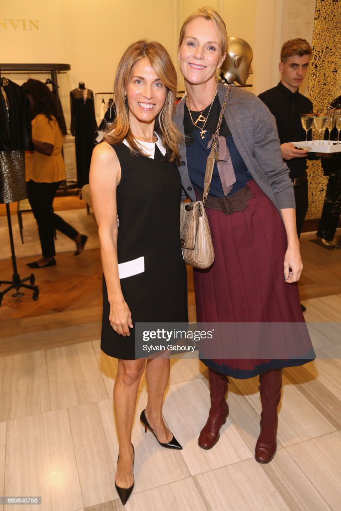 Caryn Zucker and Pia Marks attend Saks Fifth Avenue Luncheon to Benefit City Harvest at Saks Fifth Avenue on October 12, 2017 in New York City.