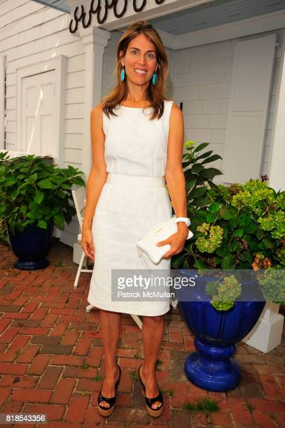 Caryn Zucker attends DOLCE GABBANA Presentation and Luncheon at Nello Summertimes HotelRestaurant on August 20 2010 in Southampton NY