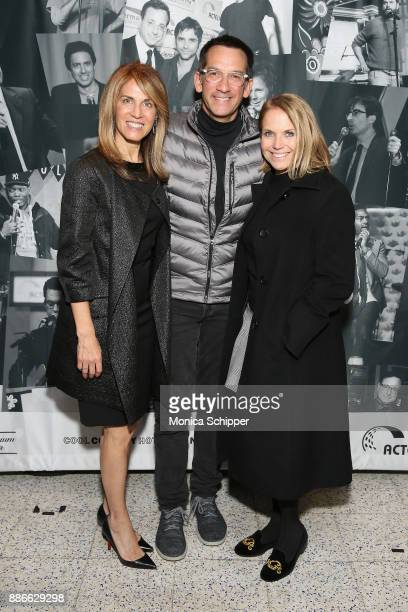 Caryn Zucker Dave Price and Katie Couric attend the Scleroderma Research Foundation's 30th Anniversary Cool Comedy Hot Cuisine at Caroline's Comedy...
