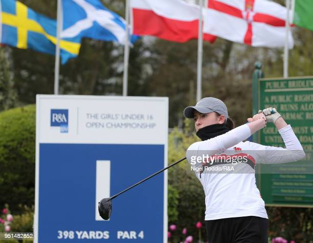 Carys Worby during practice for the Girls' U16 Open Championshipat Fulford Golf Club on April 26 2018 in York England