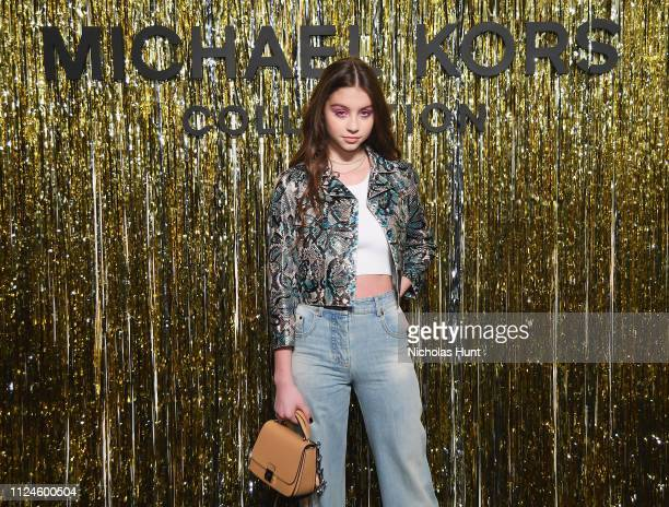 Carys Zeta Douglas attends the Michael Kors Collection Fall 2019 Runway Show at Cipriani Wall Street on February 13 2019 in New York City