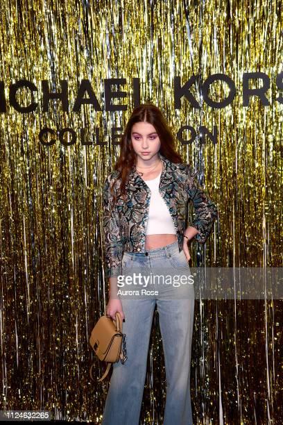 Carys Zeta Douglas Attends the Michael Kors FW19 Runway Show on February 13 2019 in New York City