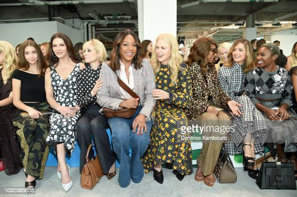 Carys Zeta Douglas Catherine ZetaJones Judith Light Tiffany Haddish Nicole Kidman Iman Rose Byrne and Cynthia Erivo attend the Michael Kors...